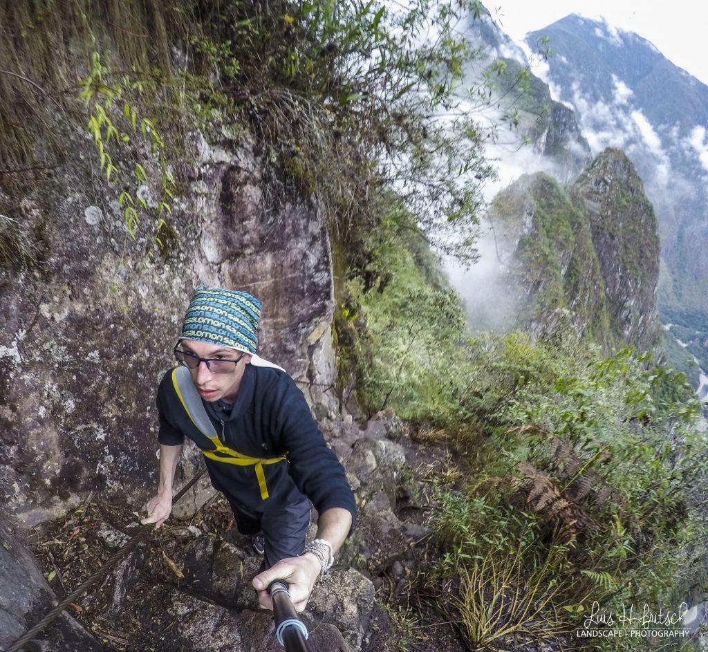 subindo a montanha de Waynapicchu