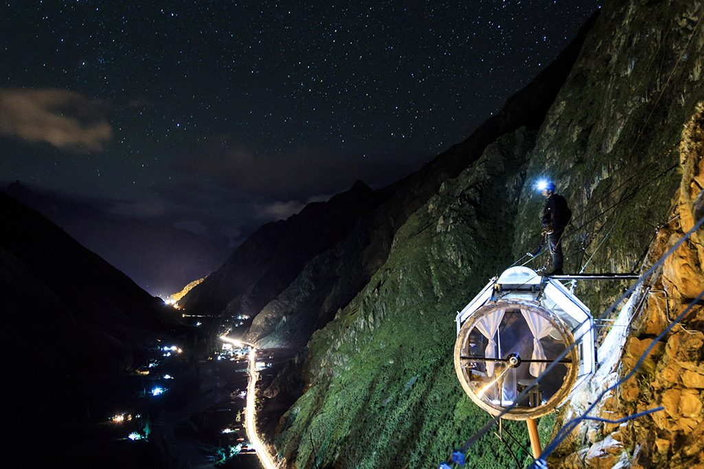 Skylodge Adventure um hotel alternativo