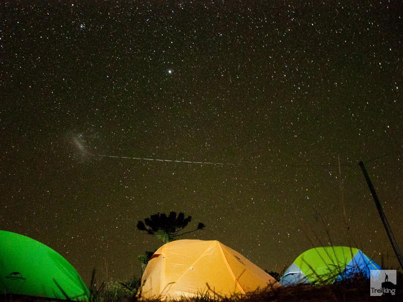 Céu estrelado nos Aparados da Serra