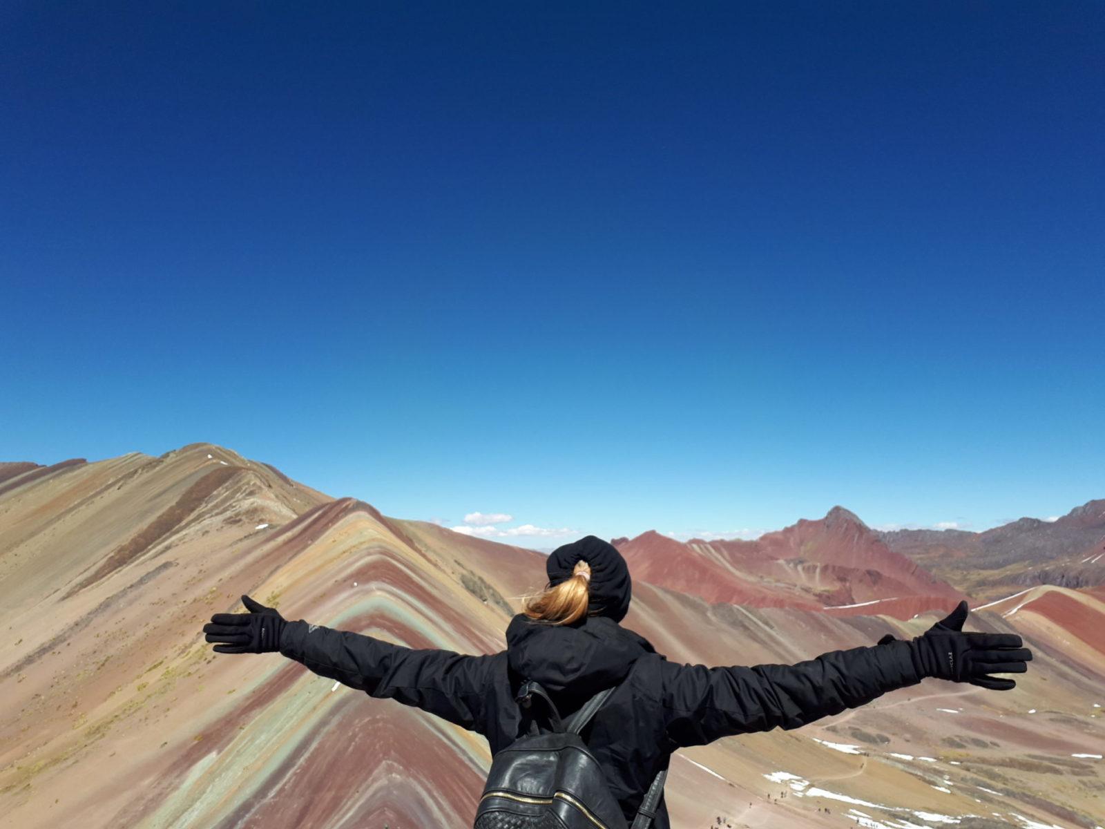 No topo da Montanha das Sete Cores, minha conquista